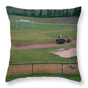 Schalke 04 - Glueckauf-kampfbahn - East Side - April 1997 Throw Pillow