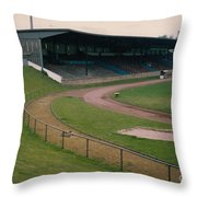 Schalke 04 - Glueckauf-kampfbahn - West Side Stand - April 1997 Throw Pillow