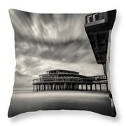Scheveningen Pier 1 Throw Pillow