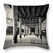 Scheveningen Pier 3 Throw Pillow