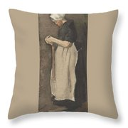 Scheveningen Woman The Hague, November - December 1881 Vincent Van Gogh 1853  189 Throw Pillow
