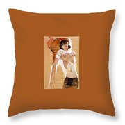 Schiele Semi-nude Girl Reclining 1911 459x311 Cm Egon Schiele Throw Pillow