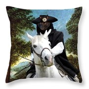 Schipperke Art Canvas Print - The Danube Valley Near Regensburg Throw Pillow
