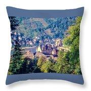 Schloss Heidelberg Throw Pillow
