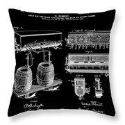 Schmidts Of Philadelphia Cold Beer Tap In Black Throw Pillow