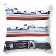 Schnellboot S100 Throw Pillow