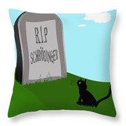 Schoedingers Cat 1 - Schroedinger 0 Throw Pillow