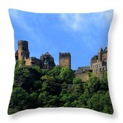 Schoenburg Castle Oberwesel Germany Throw Pillow