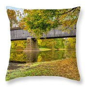 Schofield Bridge Over The Neshaminy Throw Pillow