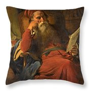 Scholar In His Study Throw Pillow