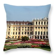 Schonbrunn Palace And Gardens Throw Pillow