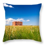 School Abandoned Throw Pillow
