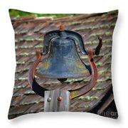 School Bell Throw Pillow