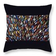 School Of Anchovies Abstract 2 Throw Pillow