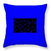 School Of Blue Fish At Night Throw Pillow