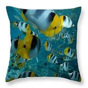 School Of Butterflyfish Throw Pillow