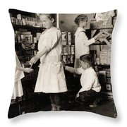 School Store, 1917 Throw Pillow