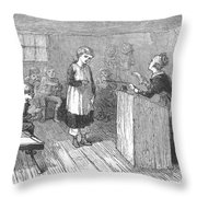 Schoolhouse, 1877 Throw Pillow