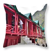 Schoolhouse At Pandeshwar India Throw Pillow