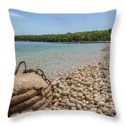 Schoolhouse Beach Washington Island Throw Pillow