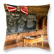 Schoolhouse Classroom At Old World Wisconsin Throw Pillow