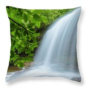 Schoolhouse Falls In Panthertown Valley North Carolina Throw Pillow