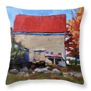 Schoolhouse Farm, Warren, Maine Throw Pillow