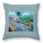 School's Out In Jamaica Throw Pillow