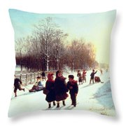 School's Out Throw Pillow