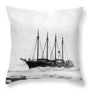 Schooner Shipwreck Throw Pillow