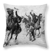 Schreyvogel: Attack, 1905 Throw Pillow