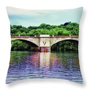 Schuylkill River Throw Pillow