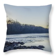 Schuylkill River Sunrise Linfield Pa Throw Pillow
