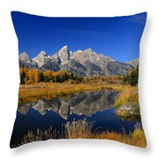 Schwabacher Landing Panorama Throw Pillow