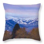 Schweitzer Ski Area Throw Pillow