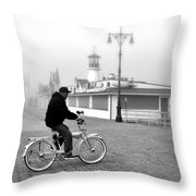 Schwinn And Sinatra Throw Pillow