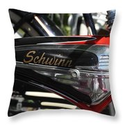 Schwinn Black Phantom Throw Pillow