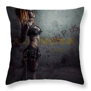 sci-fi Beauty 1 Throw Pillow