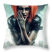 Sci-fi Beauty 3 Throw Pillow
