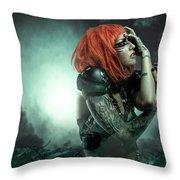 Sci-fi Beauty 6 Throw Pillow