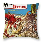 Sci-fi Magazine Cover, 1929 Throw Pillow