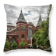 Science And Arts Building Throw Pillow