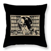 Science Books Throw Pillow