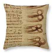 Scientific Diagrams Throw Pillow