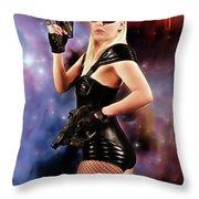 Scifi Heroine Throw Pillow