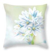 Scilla Bifolia Throw Pillow