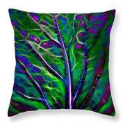 Scintillating Leaf Throw Pillow