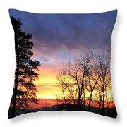 Scintillating Sunset Throw Pillow