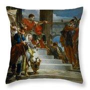 Scipio Africanus Freeing Massiva Throw Pillow