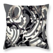 Scissor-cut Abstraction Throw Pillow